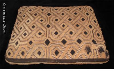 Shoowa Velvet Kuba-cloth Cushion