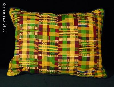 Asante Kente-cloth pillow