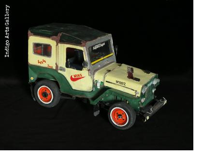 Jeep CJ Taxi Sculpture