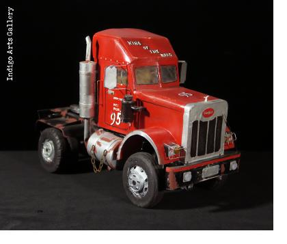 """King of the Road"" Peterbilt Truck Sculpture"