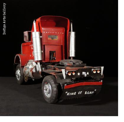 """King of the Road"" Peterbilt Truck Sculpture"