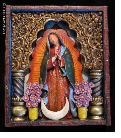 Virgen de Guadalupe - Retablo Frame (without doors)