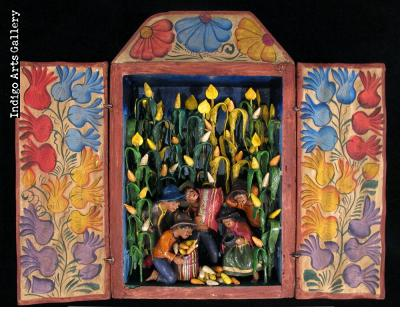 Maize Harvest Retablo (Small)
