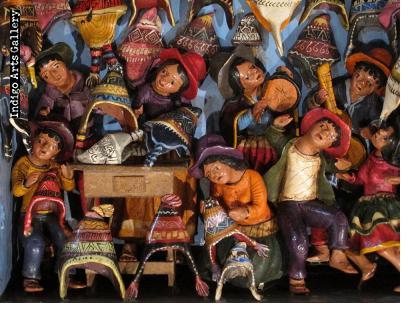 Tienda de Chullos Retablo (Medium)