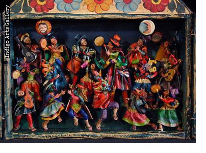 Carnaval Musicians (Fiesta) - Retablo (large)