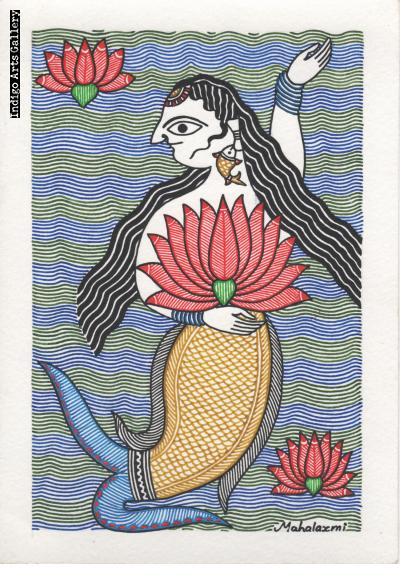 Matasya holding Lotus