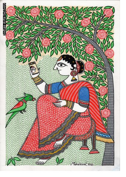 Seated Woman Taking a Selfie