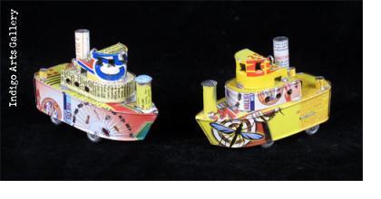 Madagascar Tugboat Ornaments
