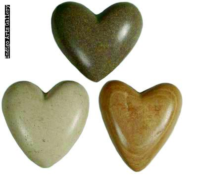 Hearts for Haiti! Hand-carved Stone Hearts - Medium