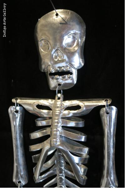 Articulated Tin Skeleton from Mexico