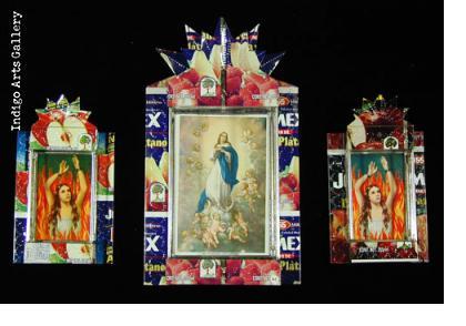 Mexican Tin Can Nicho Shrines