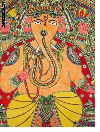 Ganesh - Mithila painting
