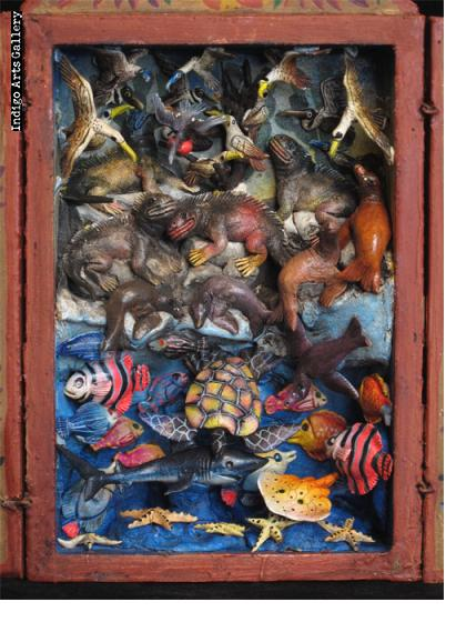 Mar Tierra Aire (Sea, Land & Air) Small Retablo