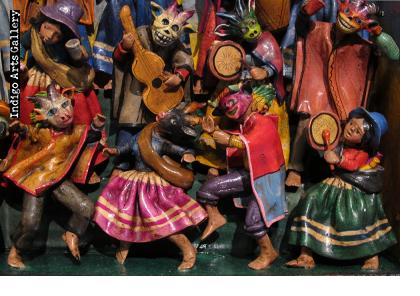 Carnaval Musicians (Fiesta) - Retablo