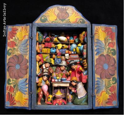 Small Toy Shop Retablo