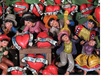 Medium Casa de Corazones (Heart Shop) - Retablo