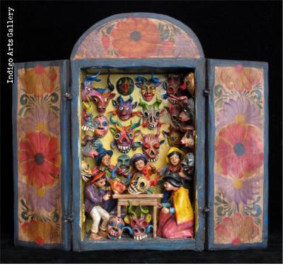 Very Small Mask Shop - Retablo