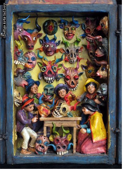 Very Small Mask Shop - Retablo