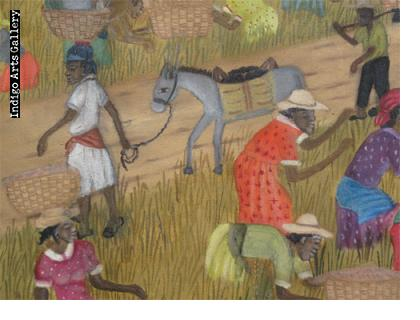 Rice Harvest Michaelle Obin