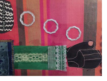 Woman with Rings - Collage