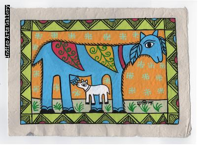 Blue Goat with Kid