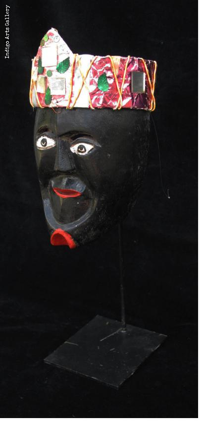 """Negrito"" Mask with Crown from  Michoacan"