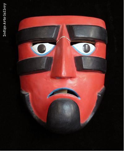 """Guerrero"" Ball-player Mask attributed to Victoriano Salgado of Michoacan"