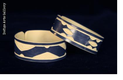 """Faux Ivory"" PVC Bracelets from Namibia - Medium Cuff"