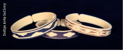 """Faux Ivory"" PVC Bracelets from Namibia - Slender Cuff"
