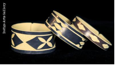"""Faux Ivory"" PVC Bracelets from Namibia - 3 Sizes shown"