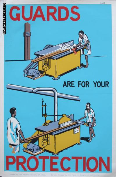 GUARDS ARE FOR YOUR PROTECTION - Workplace Safety Poster #12
