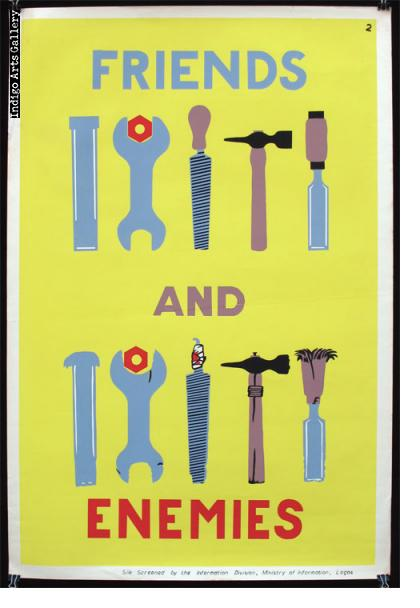 FRIENDS AND ENEMIES - Workplace Safety Poster #2