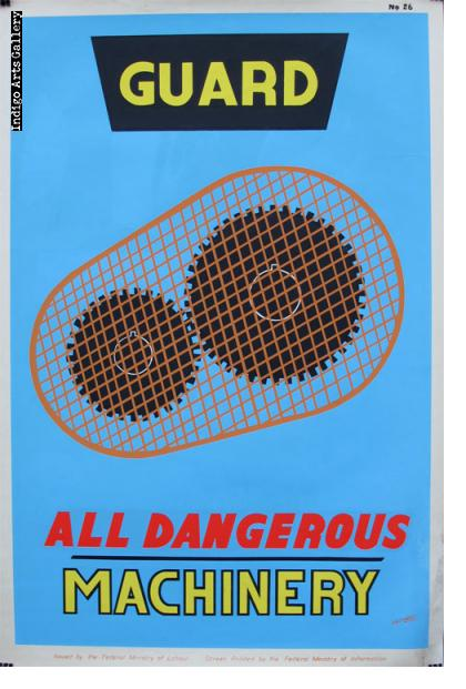 GUARD ALL DANGEROUS MACHINERY - Workplace Safety Poster #26