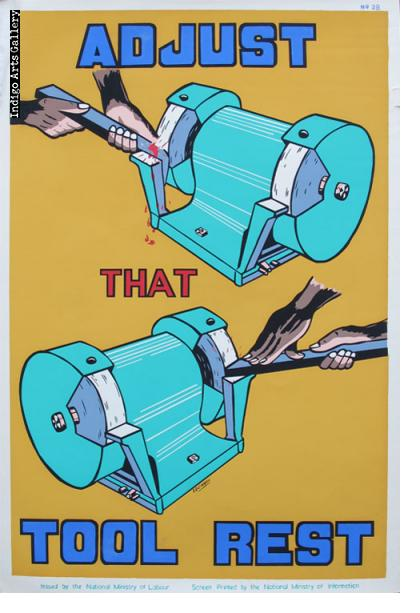 ADJUST THAT TOOL REST - Workplace Safety Poster #28