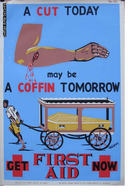 A CUT TODAY may be A COFFIN TOMORROW - Workplace Safety Poster #30
