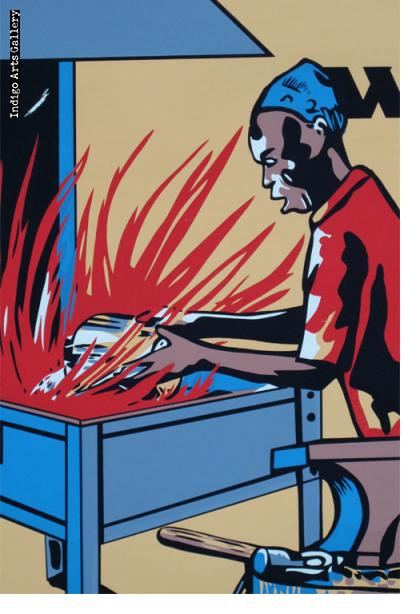 do not revive FIRES with inflammable LIQUIDS - Workplace Safety Poster #33