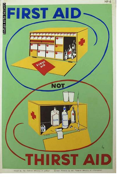 FIRST AID NOT THIRST AID - Workplace Safety Poster #4