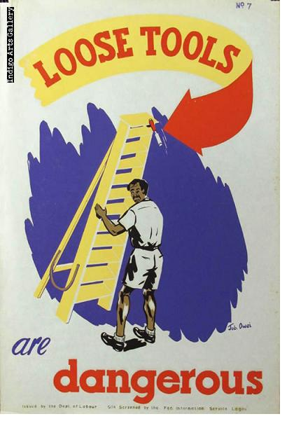 LOOSE TOOLS are dangerous - Workplace Safety Poster #7
