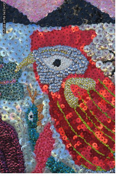 Kok Kalité (Rooster) Vodou flag