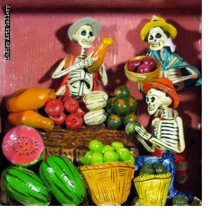 Fruit Seller of the Dead - retablo