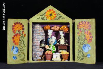 Panaderia de los Muertos (Bakery of the dead) Retablo