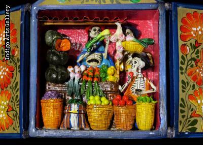 Verdulería de los Muertos (Fruit Stand of the Dead) Retablo