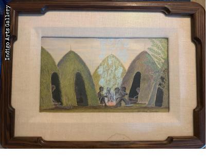 Men in the Village - in original frame