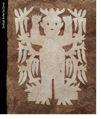Otomi Amate Paper Spirit Painting -Chile Seed Spirits