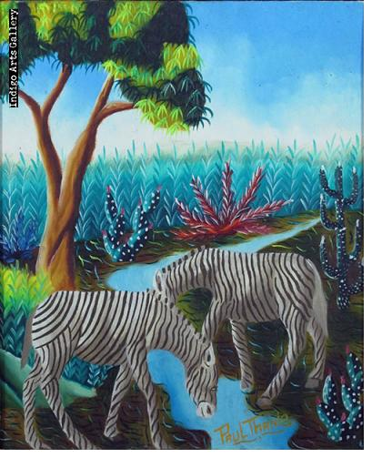 Zebras at the Stream