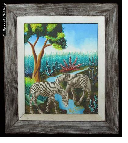 Zebras at the Stream