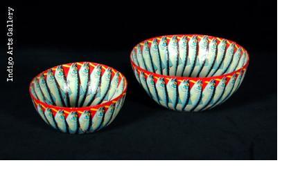 Papier Mache-covered Bowls