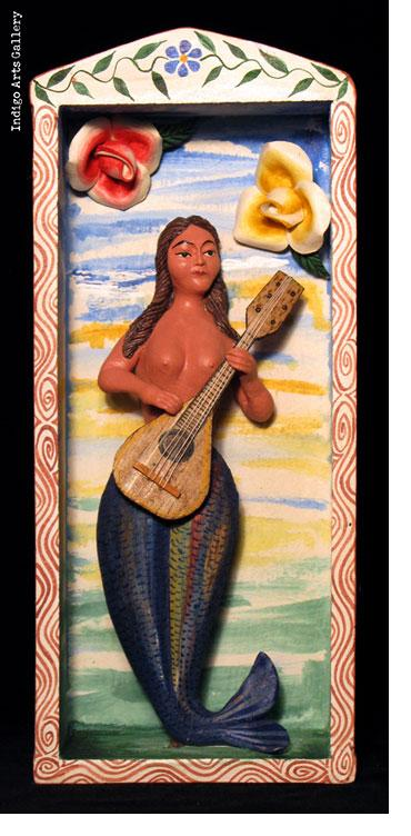 La Sirena con Guitarra - Retablo