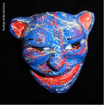 Blue-spatter Carnival Mask