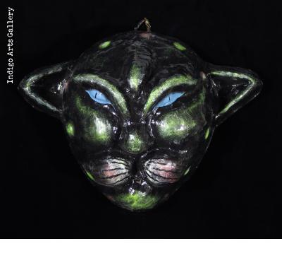 Green Jaguar Carnival Mask